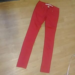 Mossimo red skinny jeans